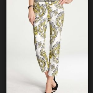 Ann Taylor Paisley Print Carnegie Cropped Pant